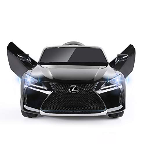 METAKOO 12V Kids Ride on Car Licensed Lexus LC500, Electric Vehicle with Remote Control, 1.9-3.1 MPH, Spring Suspension, LED Lights, MP3 Music Player, Amazing Gifts for 3~6 Years Old Kids-Black