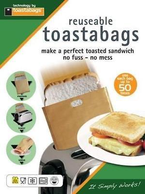4 sachets de cuisson réutilisables pour toasts