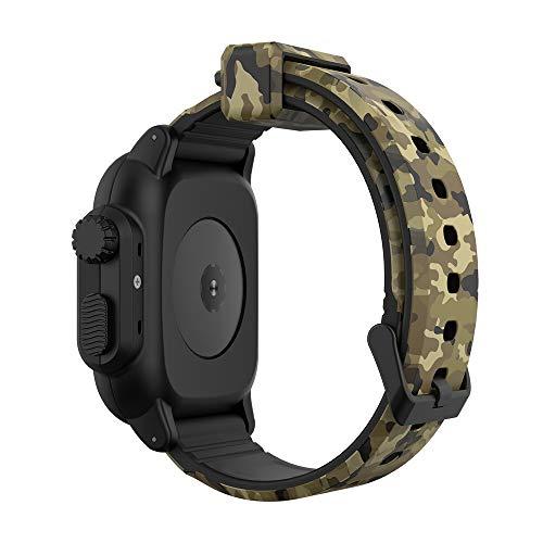 NVFED Per Apple Watch Band 6 5 4 3 2 SE 44/40/42mm Camouflage Bracciale Sportivo Braccialetto Impermeabile + Copertura per Cinturino in Silicone per IWATCH Series 6