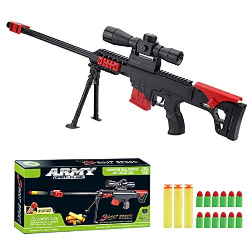 XIAOKEKE Pistola De Juguete, Rifle De Francotirador Barrett De Ataque Militar, Rifle De Francotirador De Juguete De Bala Suave CS para Exteriores para Niños