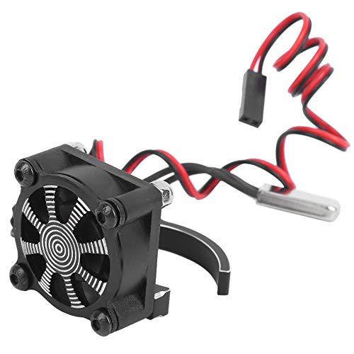 Weiyiroty con Ventilador de refrigeración Duradero con Sensor térmico, disipador de Calor de Motor de Coche RC, Coche Modelo RC(Black)