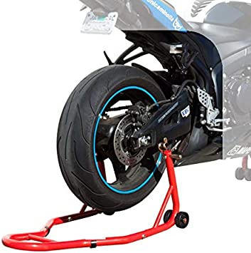 Rosa WIUANG Cavalletto per Moto Cavalletto anteriore moto e Posteriore Cavalletti alza moto regolabili con capacit/à di sollevamento 200 kg di Cavalletto Moto