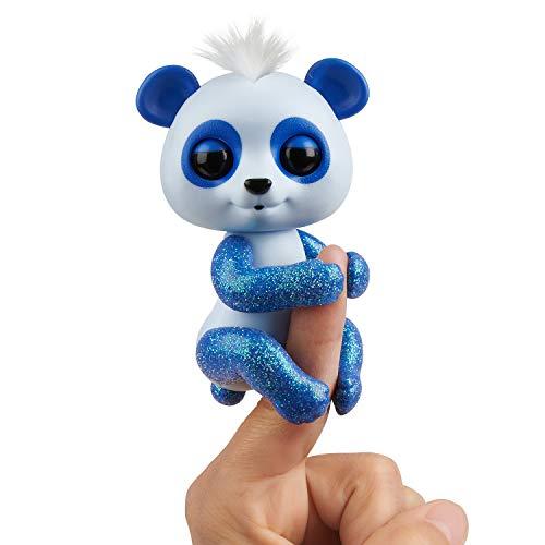 WowWee Fingerlings Panda blau Archie - 3563 / interaktives Spielzeug, reagiert auf Geräusche,...
