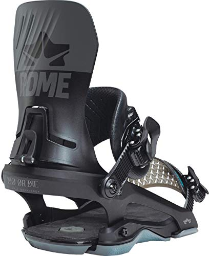 Rome Snowboards D.O.D. Black L-XL Fijación para Tabla de Snowboard, Hombre, Negro