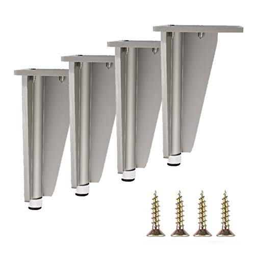 GYF Patas De Aluminio para Muebles, Juego De 4 Patas De Armario Ajustables Fácil De Instalar para Sofás, Camas, Armarios (Size : 200mm)