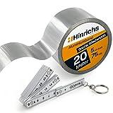 Hinrichs Nastro Alte Temperature 20 m x 50 mm - Nastro Alluminio Adesivo per la riparazione delle guarnizioni isolanti
