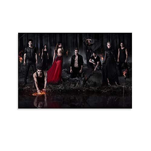 ASFASF Poster serie TV The Vampire Diaries, 12 poster decorativi su tela da parete per soggiorno, camera da letto, 40 x 60 cm