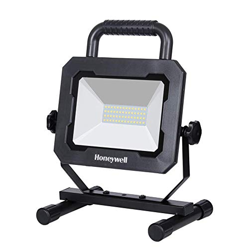 Honeywell 3000LM LED Work Light, Portable Work Light with Integrated Stand and Handle, High Brightness Work Light for Car Repairing, Garage and Workshop