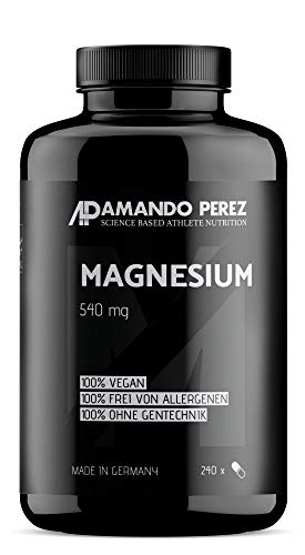 Hochaktives Magnesium 540 mg pro Dosis - 240 Kapseln - Ideal für Sportler