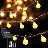 80 LED Solar Lights Outdoor Garden, 54Ft/16.5m Globe String Lights Solar Garden Lights 8 Modes Waterproof Outdoor Fairy Lights for Garden Yard Home Patio Tree Wedding BBQ Party