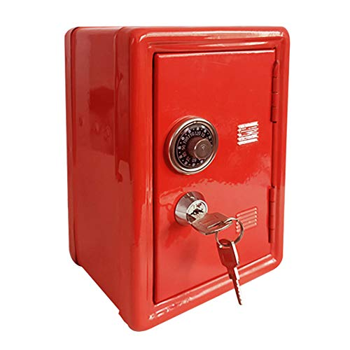 Alicer Mini-Geldkassette, robuste Metall-Geldkassette mit Geldablage, kleine Schließfachbox mit Schlüssel, Safe-Case-Passwort Geldspeicher
