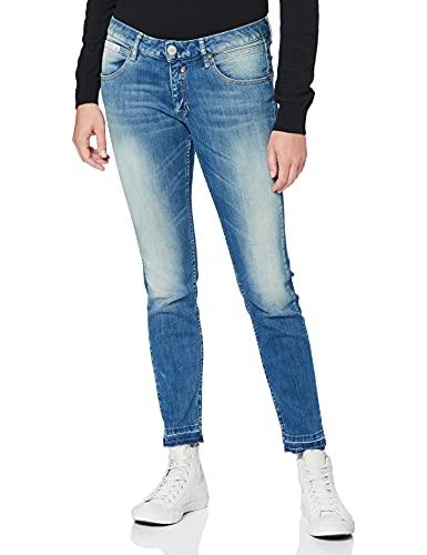 Herrlicher Damen Touch Cropped Slim Jeans, Blau (Bliss 634), Keine Angabe (Herstellergröße: 31)