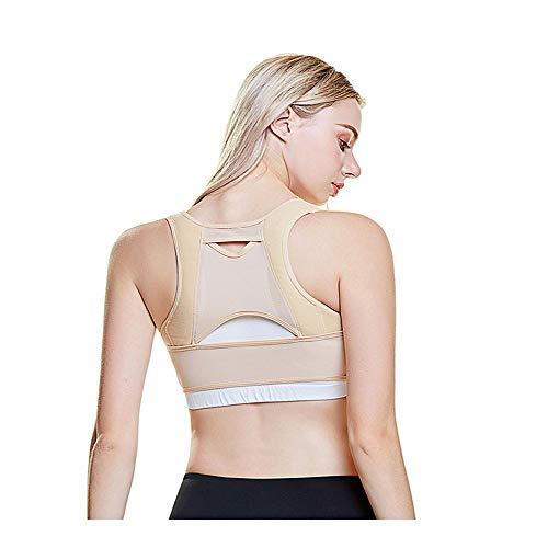NINGXUE Körperhaltung, weibliche Bruststütze, unsichtbarer, atmungsaktiver Korrekturgürtel für den Rücken - verhindern Buckelrücken, Durchbiegung der Brust,M