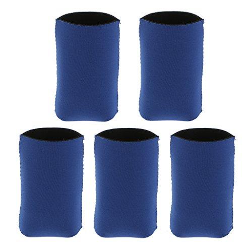 5x Neopren Kühl Bier Getränkeflasche Blechdose Hülsenhalter können Kühler - Blau, 3,94 x 4,33 Zoll