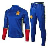 AWMSSR Fútbol para Hombres Adultos, Entrenamiento de fútbol, Ropa Deportiva, Camiseta de fútbol, Traje Deportivo de Manga Larga -492-azul_XXL