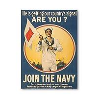 Hbdjns 第一次世界大戦の宣伝ポスターヴィンテージプリント戦争記念アートキャンバス絵画壁アート写真家の装飾-50X70Cmx1フレームなし