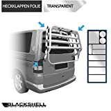 Blackshell Lackschutzfolie für Heckklappenträger/Fahrradträger in Transparent + Premium Rakel - 10 teiliges Universal Set - Schutzpads, Selbstklebende Folie