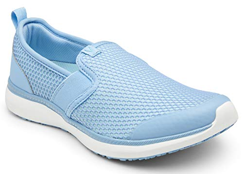 Vionic Women's Simmons Julianna Service Shoes- Ladies Slip Resistant Shoe with Concealed Orthotic Arch Support Ocean 8 Medium US