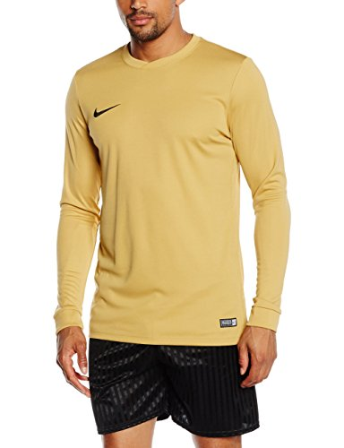 Nike Park VI LS Maillot Homme, Jersey Gold/Black, FR : M (Taille Fabricant : M)