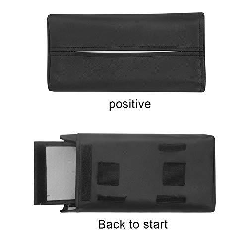 WWFCI weefsel doos Servetten Houder Auto Styling Tissue Box Draagbare Handige Auto Tissue Box Cover Lederen Auto interieur Accessoires, Zwart