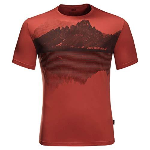 Jack Wolfskin Herren Peak Graphic T-Shirt, Mexican Pepper, XL