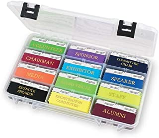 Name Badge Productions - 14 x 8 3/4 x 1 Inch Ribbon Holder - Heavy Duty Molded Plastic with Dividers