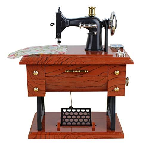 Vorcool - Caja de música con diseño de máquina de coser, para niños y adultos
