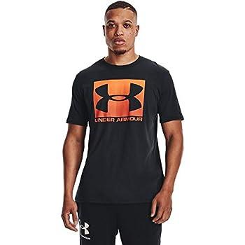Under Armour Men s Boxed Sportstyle Short-Sleeve T-Shirt Black  003 /Rogue Orange Large