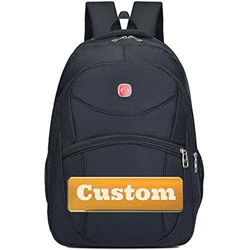 Mochila Personalizada de Nombre Personalizada para computadora y Viaje 15.6 Gaming Bag Professional (Color : Black, Size : One Size)