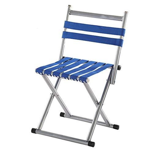 Tabouret Pliant Portable Chaise Épaissie Mazar Adulte Train De Pêche en Plein Air Petit Banc Tabouret Court (Color : Blue, Size : 45)