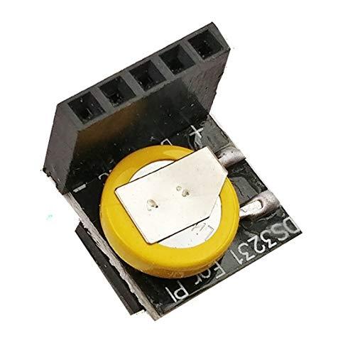 DS3231 Iic Module High Precision Clock Module Metal+Plastic Memory Module Real Time 3.3V/5V for Raspberry Pi-Black + Yellow