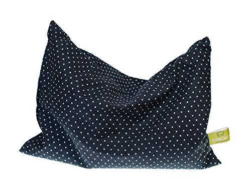 Miniblings körsbärskärnkudde förkylning 22 x 18 cm svarta punkter vit värme kudde