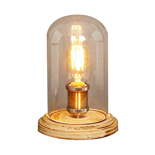 INJUICY Loft industriële basis van metalen waterbuizen van ijzeren lamp tafellamp antiek retro ijzer bureaulamp voor nachtkastje balkonlamp studio woonkamer slaapkamer
