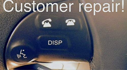 Decal USA Fits 2007 2008 2009 2010 2011 2012 Lexus Lexus ES350 Worn flaking Peeling Faded Steering Wheel Controls Push Buttons Repair Durable Vinyl Decals Sticker Button Surface Overlay Renewal kit.
