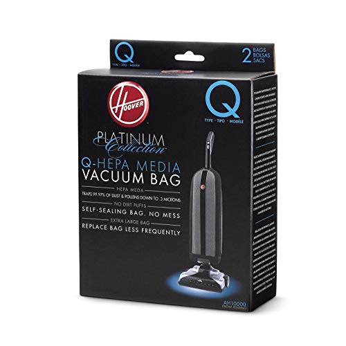 Hoover Platinum Type-Q HEPA Filter Vacuum Cleaner Bag, Part 902419001, for Upright UH30010COM, Pack of 2, AH10000, 2 Count
