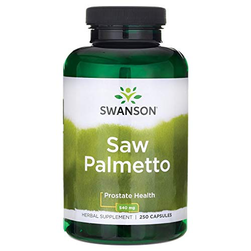 Swanson Saw Palmetto Herbal Supplement for Men Prostate Health Hair Supplement Urinary Health 540 mg 250 Capsules
