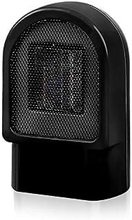 Durable Soplador de aire mini Oficina de Hogares del radiador caliente del calentador del calentador eléctrico (Color : Black)