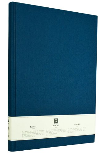Semikolon (351232) Notizbuch Classic A4 blanko marine (blau) - Buchleinenbezug - 160 Seiten mit cremeweißem 100g/m²- Papier - Lesezeichen