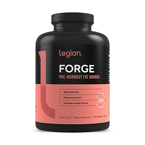 Legion Forge Fasted Fat Burner - Thermogenic Fat Burner, Target Stomach Fat and Trim Belly Fat with Yohimbe, HMB Supplement, Choline. All Natural, 45 Servings.…