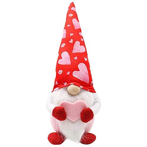 BLUEXIAO Valentinstag Tomte Zwerg Dekorationen Schwedischer Zwerg Plüsch Puppen Handgemachte Zwerg Ostern Jubiläum Geburtstag & Kommunion Glückwunsch Saisonal Dankeschön Hochzeitsgeschenk
