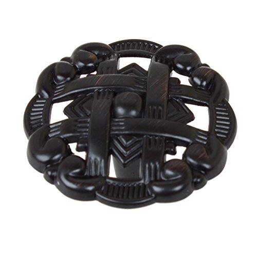 GlideRite Hardware 5745-ORB-10 1.375 Celtic Medallion Cabinet Knobs 10 Pack, Oil Rubbed Bronze Finish, 10 Piece