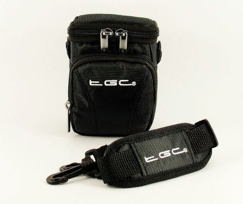 The TGC® - Custodia anti-shock per fotocamera Nikon Coolpix Keymission 170, colore: Nero