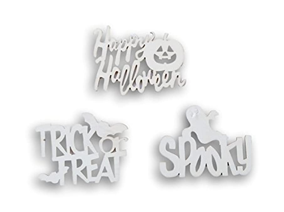 Natural Wood Unpainted Halloween Arts and Crafts Cutout - 3 Count - Spooky, Trick or Treat, Happy Halloween