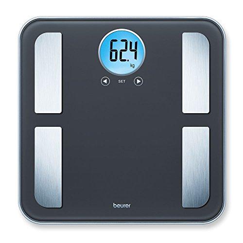 Beurer BF 195 Glas-Diagnose-/ Personenwaage, zur Ermittlung von Körperfett, Muskelanteil und Kalorienbedarf