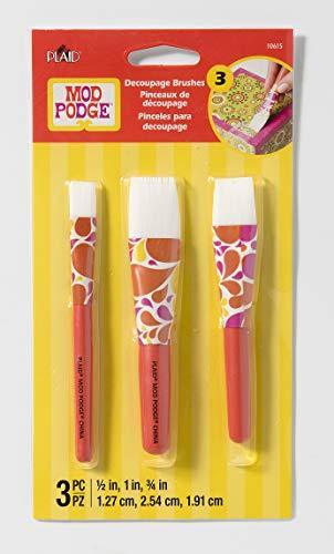 Mod Podge 10615 3 Piece Short Handle Brush Set