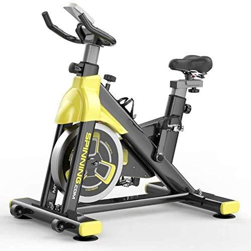 RVTYR - Bicicletta da interni con sedile regolabile, per allenamento a casa e fitness, pedale per esercizi fisici, colore: nero e giallo