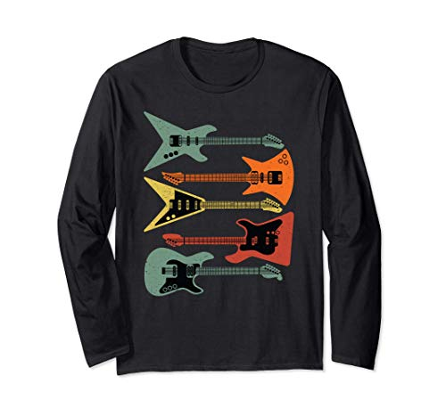 Gitarristengeschenk; E-Gitarren; Vintage, Retro, Distressed Langarmshirt