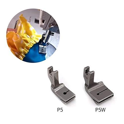 XINGJIJIJIA Ajustable 1 Pieza de Capa Industrial Máquina de Coser Plana de Coches Doble Arrugas prensatelas P5 P5W de Acero Ancho y Estrecho Arrugas Presser Fo Calidad (Size : P5 Widen)