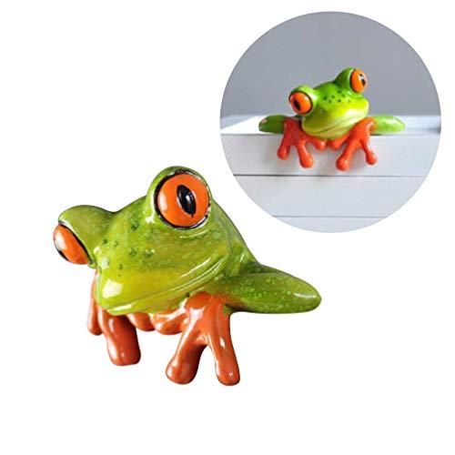 STOBOK 1 pcs Décor Dordinateur Grenouille Artisanat 3D Créative Belle Résine Grenouille Figurine Bureau À Domicile Bureau Ornement