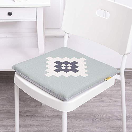 Eetkamerstoelen met vierkant kussen voor buiten, kussen voor buiten, kussen voor de zitting, voor de bureaustoel (kleur: I, afmetingen: 40 x 40 x 4 cm (16x16x2 inch)